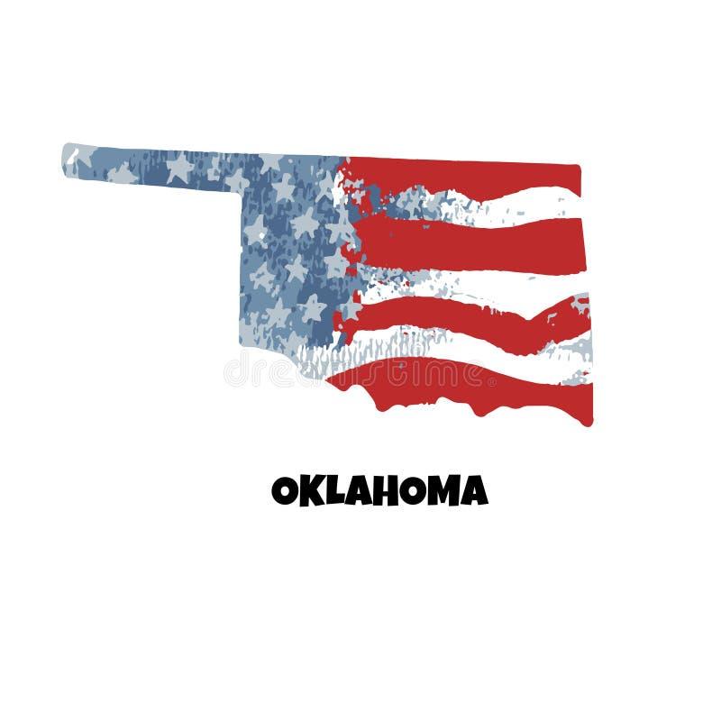 Staat van Oklahoma De Verenigde Staten van Amerika Vector illustratie royalty-vrije illustratie