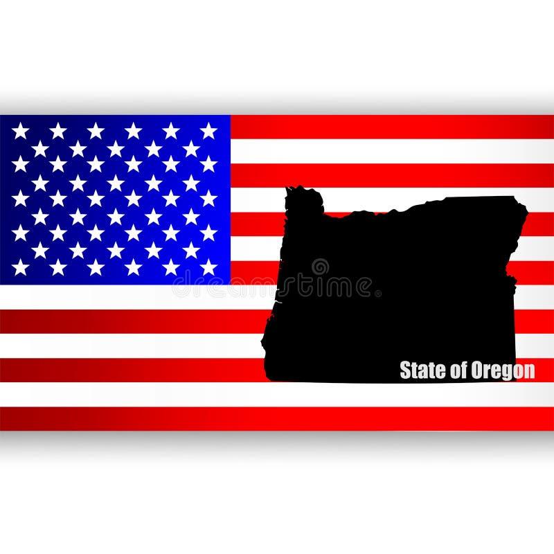 Staat van Oregon stock illustratie