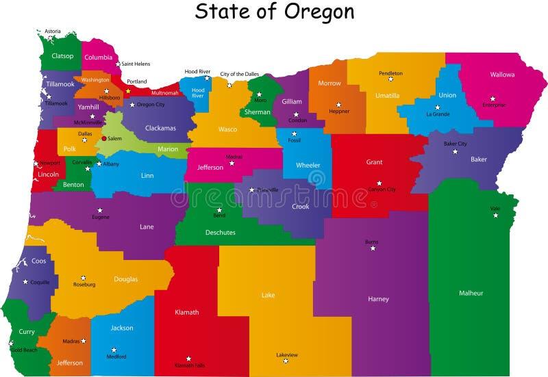 Staat van Oregon royalty-vrije illustratie