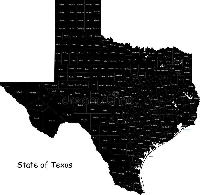 Staat van Texas royalty-vrije illustratie