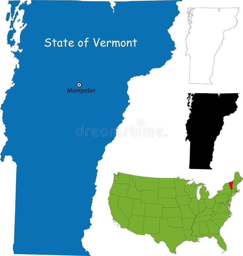 Staat van Vermont, de V.S. stock illustratie