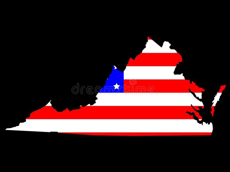 Staat van Virginia stock illustratie