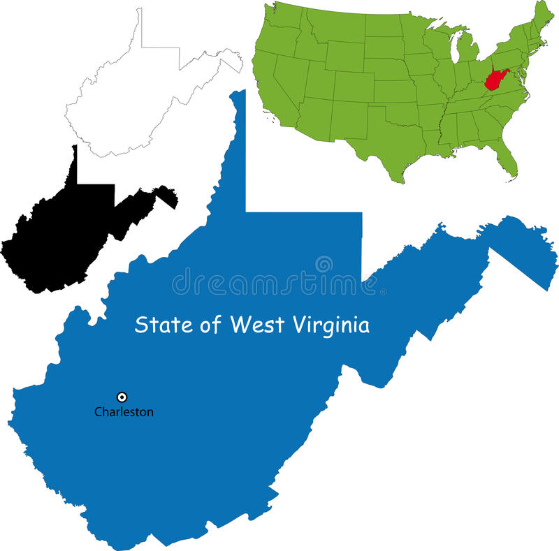 Staat van West-Virginia, de V.S. vector illustratie