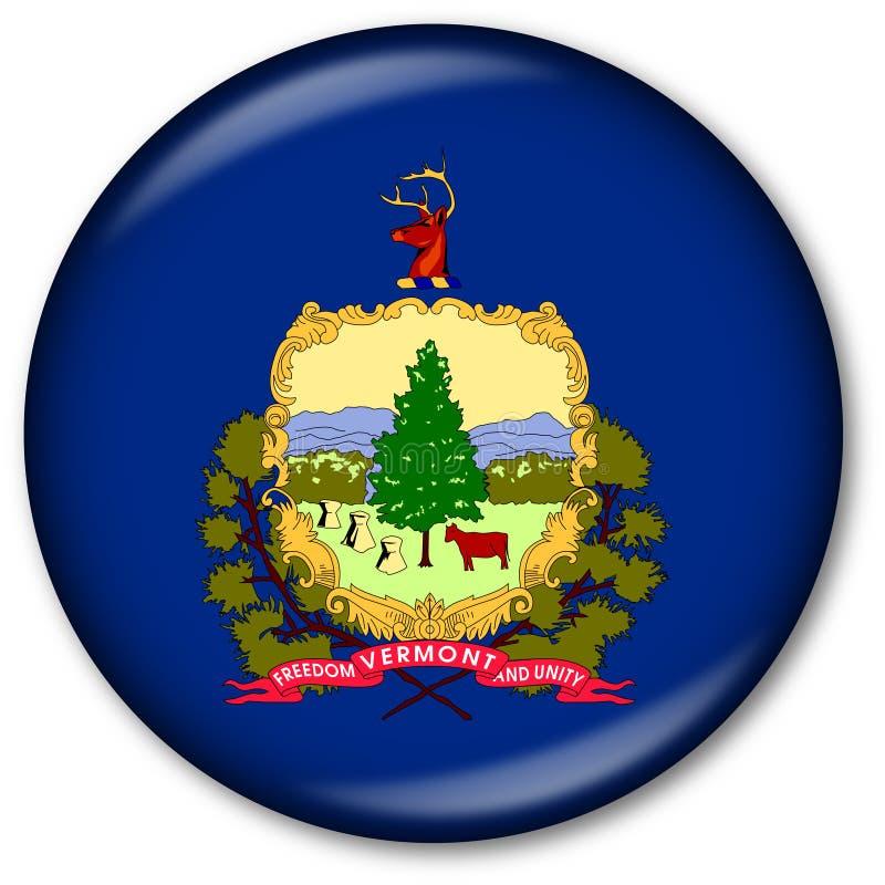 Staat Vermont-Markierungsfahnen-Taste vektor abbildung