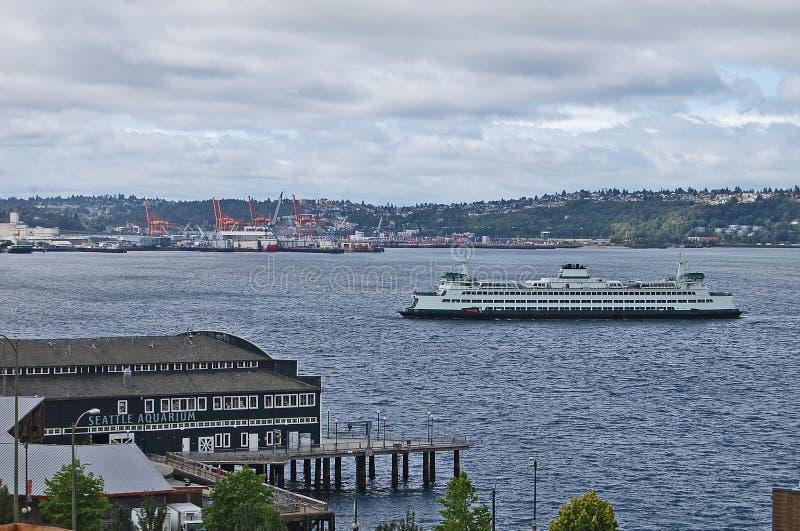 Staat- Washingtonfährenankommen stockfotos