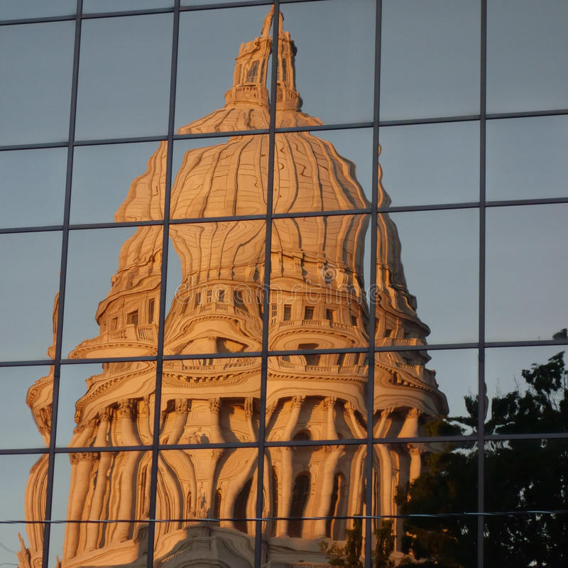 Staat Wisconsin-Kapitol-Gebäude stockfotografie