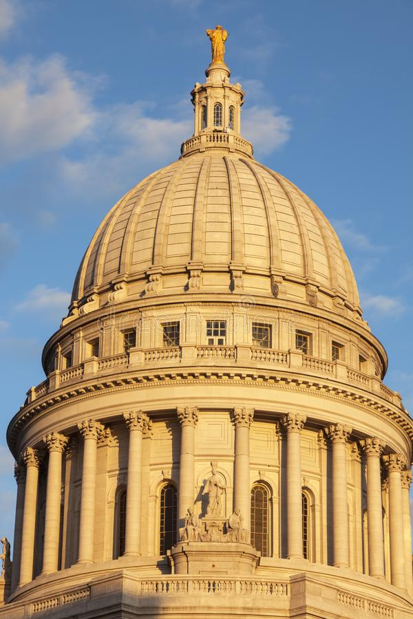 Staat Wisconsin-Kapitol-Gebäude in Madison lizenzfreies stockbild