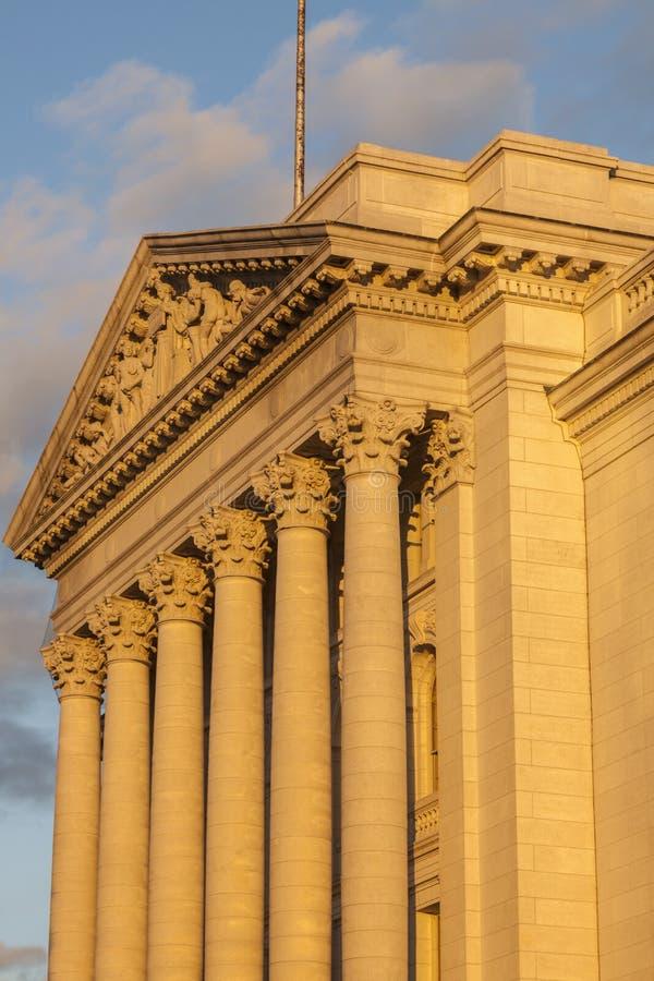 Staat Wisconsin-Kapitol-Gebäude in Madison stockbild