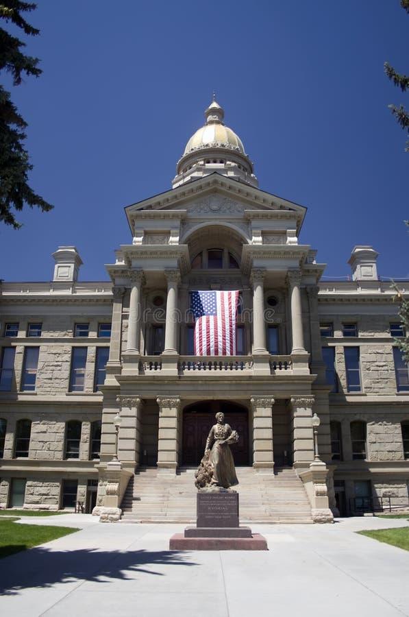 Staat Wyoming-Kapitol stockbilder