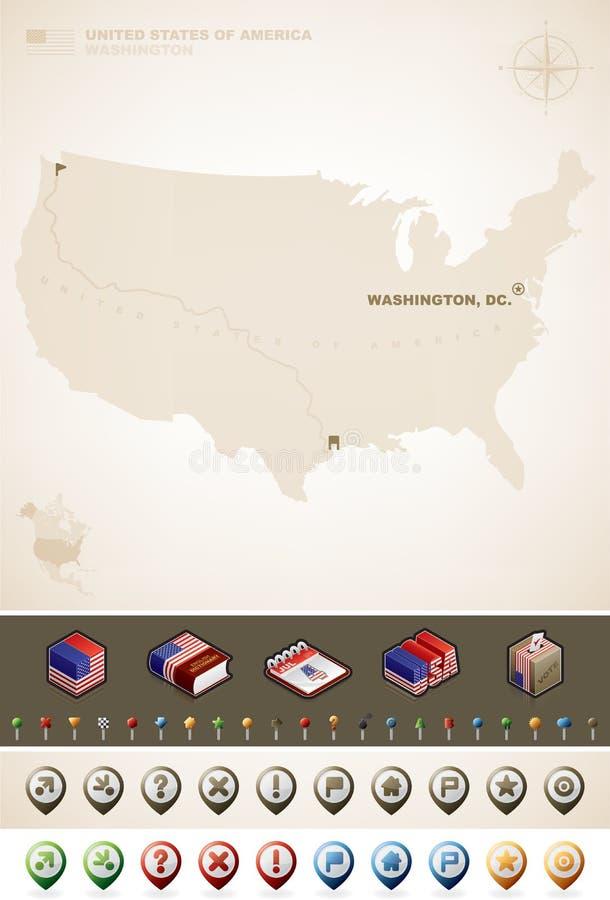 Staaten von Amerika lizenzfreie abbildung