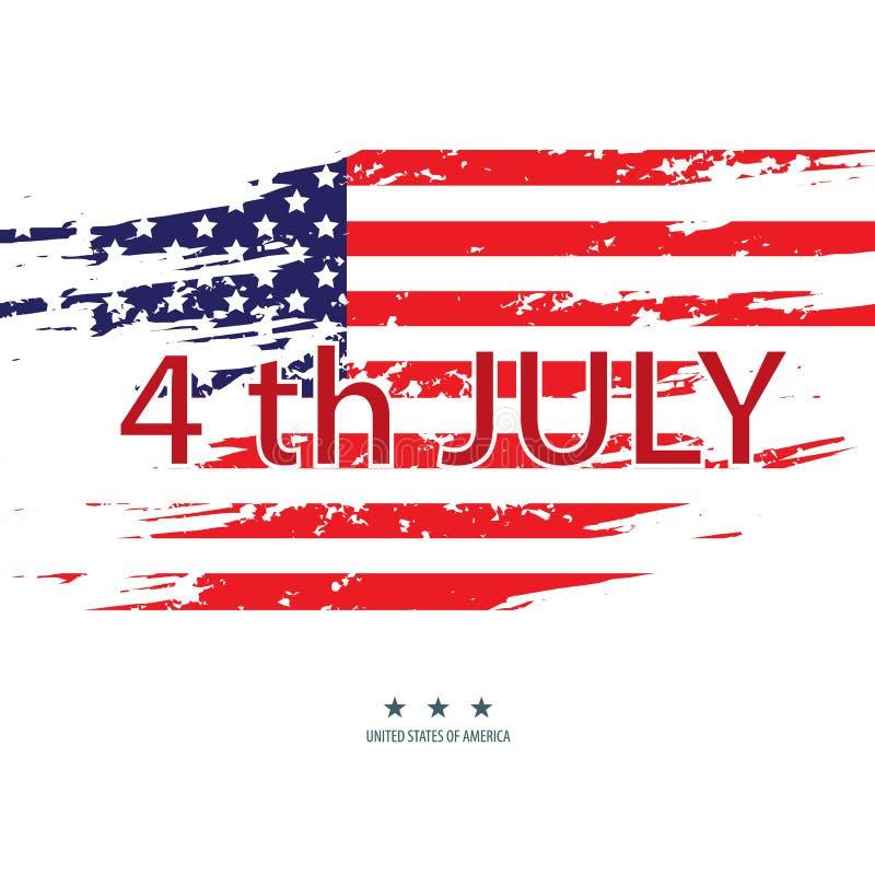 Staaten von Amerika des Juli-Unabhängigkeitstags Vektor 10 stock abbildung