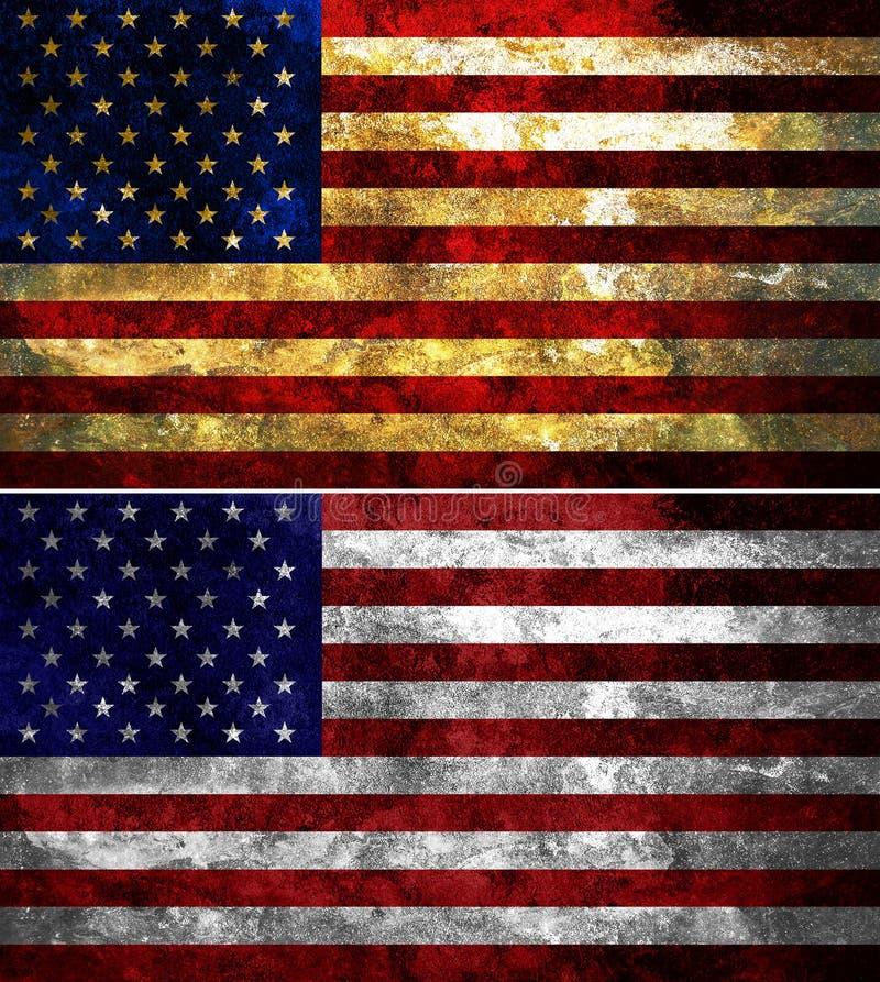 Staaten von Amerika maserten Markierungsfahne stockbilder