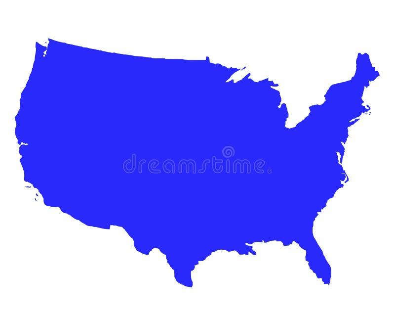 Staaten- von Amerikaumreißkarte lizenzfreie abbildung