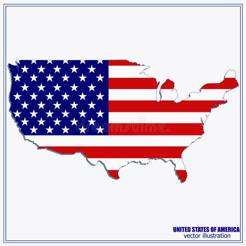 Staaten- von Amerikavektorkarte Abbildung vektor abbildung