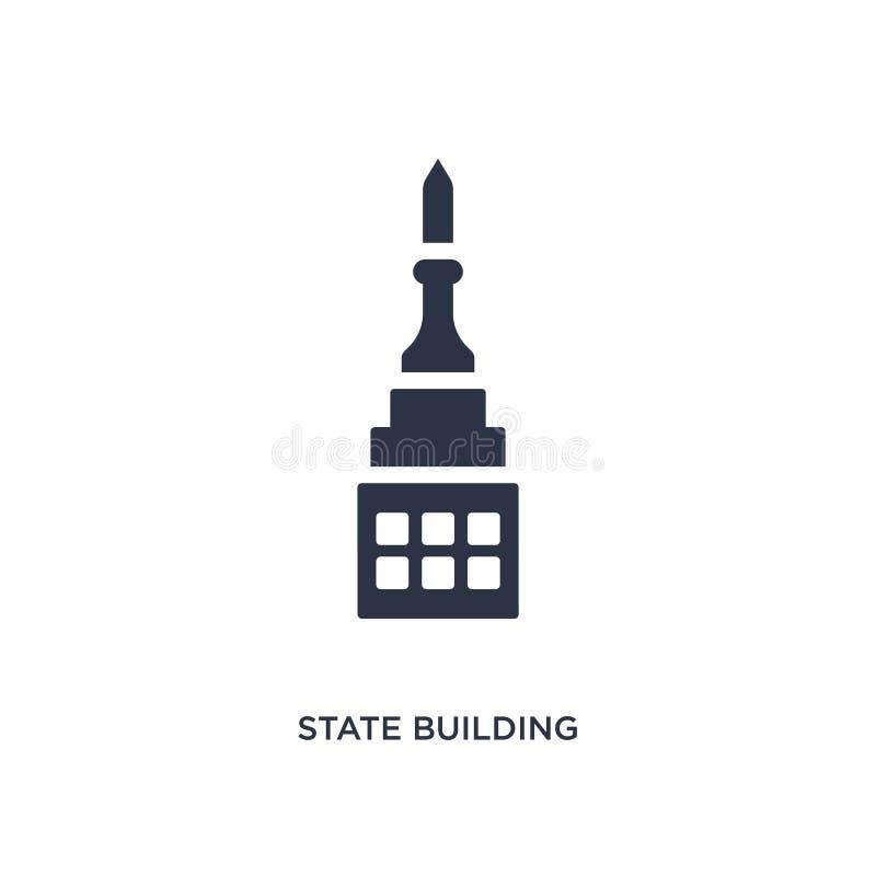 Staatenbildungsikone auf weißem Hintergrund Einfache Elementillustration vom Gebäudekonzept vektor abbildung