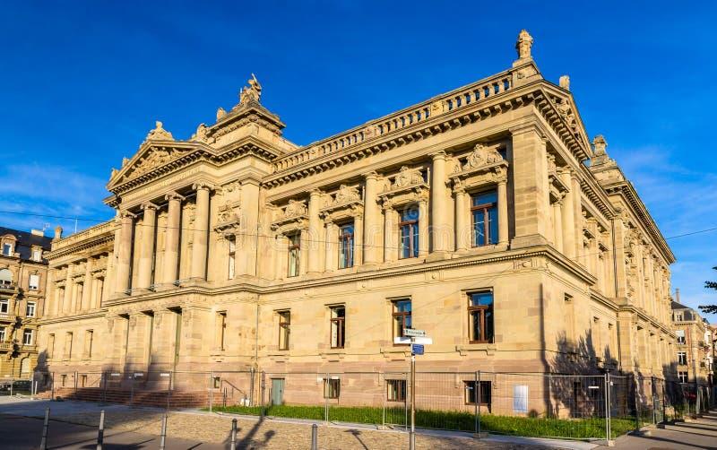 Staatsangehöriger und Universitätsbibliothek von Straßburg - Frankreich lizenzfreie stockfotos