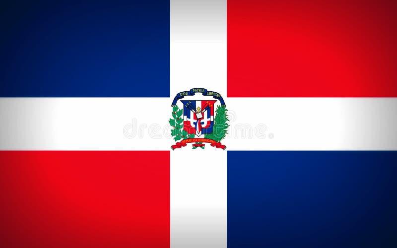 Staatsflagge der Dominikanischen Republik vektor abbildung
