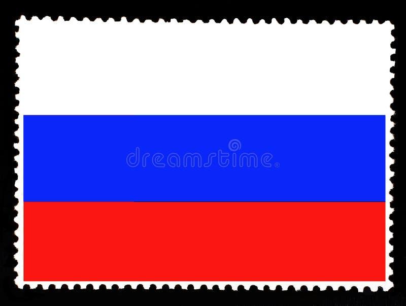 Staatsflagge der Illustration der Russischen Föderation Offizielle Farben und Anteil der Flagge der Russischen Föderation Briefma vektor abbildung