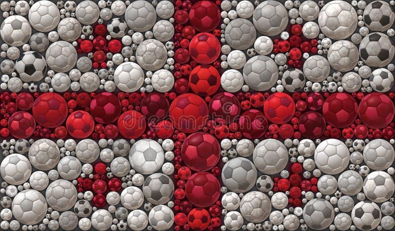 Staatsflagge des Georgia Soccer Balls Mosaic Illustrations-Konzeptes des Entwurfes vektor abbildung