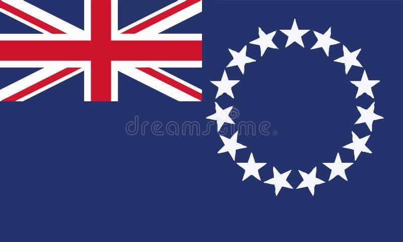 Staatsflagge-Koch Islands lizenzfreie abbildung