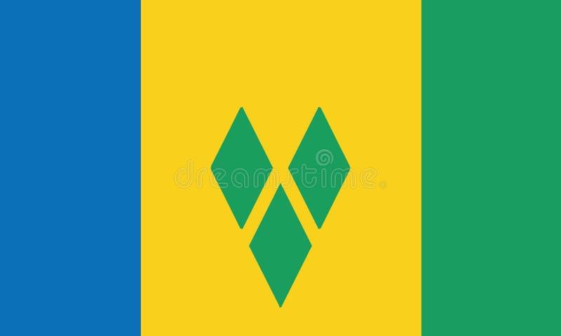 Staatsflagge St. Vincent und die Grenadinen stock abbildung
