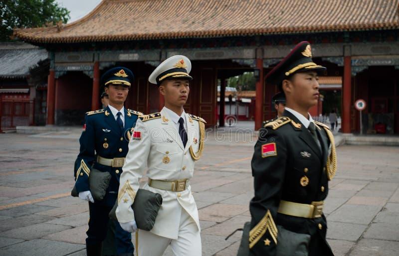 Staatsflagge-Team, Peking, China stockfoto