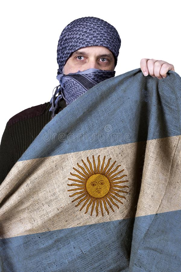 Staatsflagge von Argentinien stockfoto