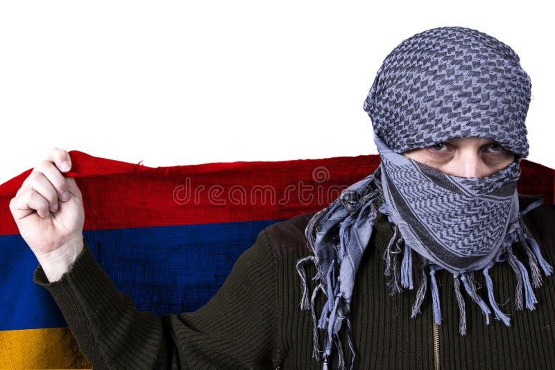 Staatsflagge von Armenien lizenzfreie stockbilder