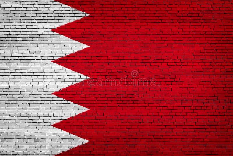 Staatsflagge von Bahrain auf einem Ziegelstein vektor abbildung