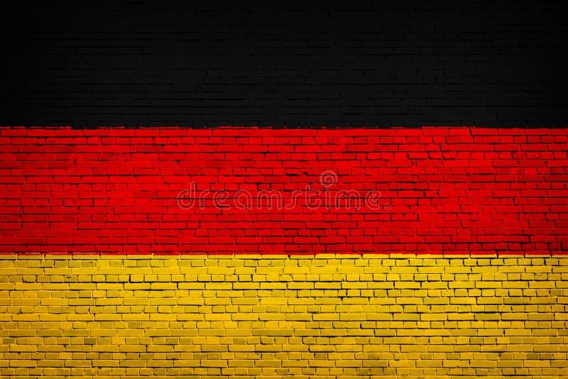 Staatsflagge von Deutschland auf einem Ziegelstein stock abbildung