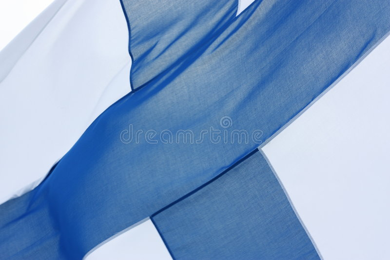 Staatsflagge von Finnland stockbilder