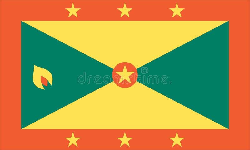Staatsflagge von Grenada stock abbildung