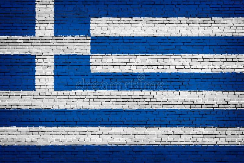 Staatsflagge von Griechenland auf einem Ziegelstein vektor abbildung