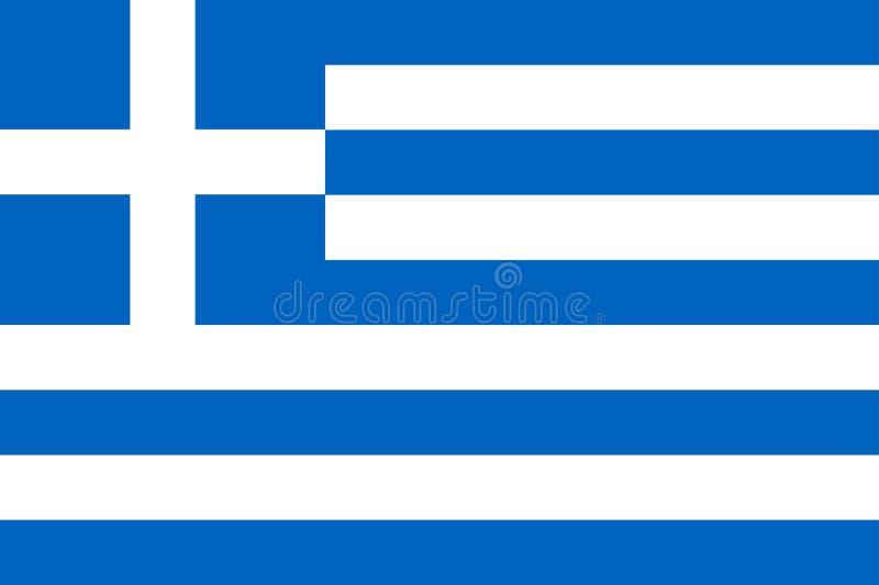 Staatsflagge von Griechenland-Land lizenzfreie abbildung