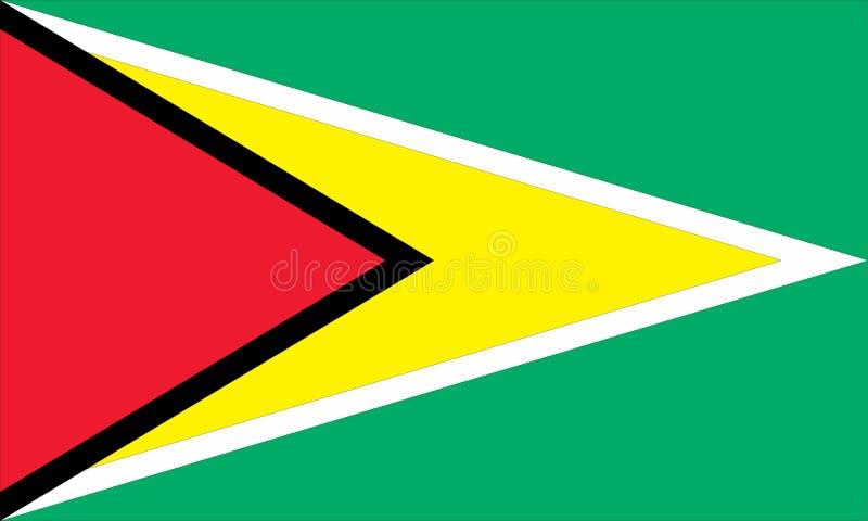Staatsflagge von Guyana lizenzfreie abbildung
