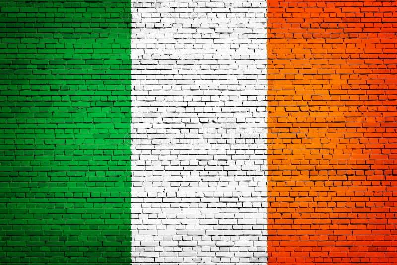 Staatsflagge von Irland auf einem Ziegelstein vektor abbildung