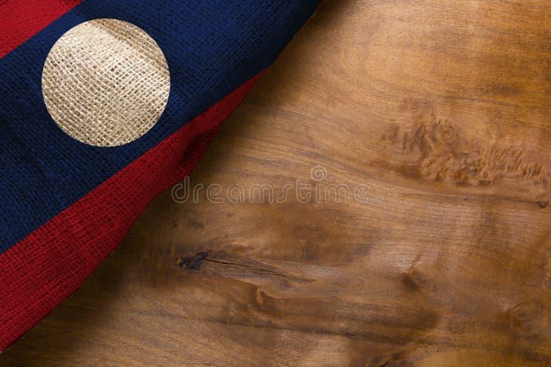 Staatsflagge von Laos lizenzfreie stockbilder