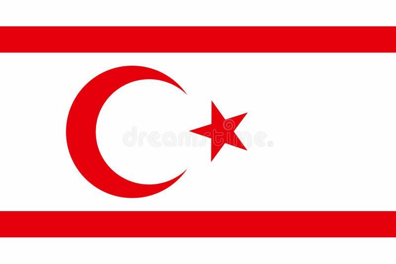 Staatsflagge von Nord-Zypern stock abbildung