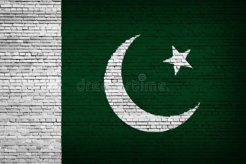 Staatsflagge von Pakistan auf einem Ziegelstein vektor abbildung