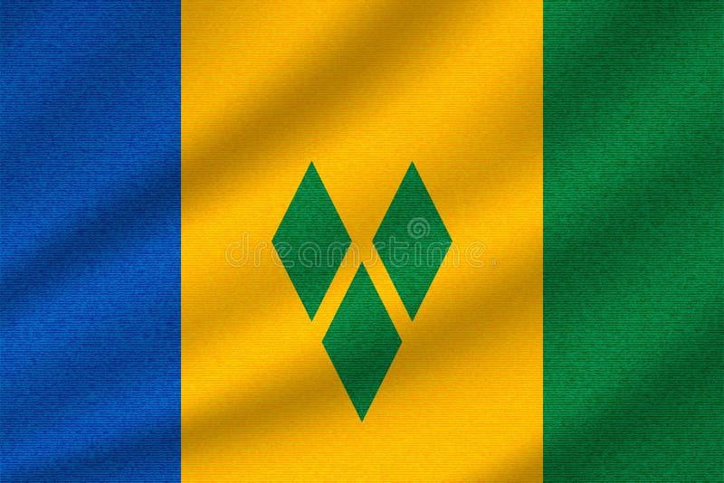 Staatsflagge von St. Vincent und die Grenadinen lizenzfreie abbildung