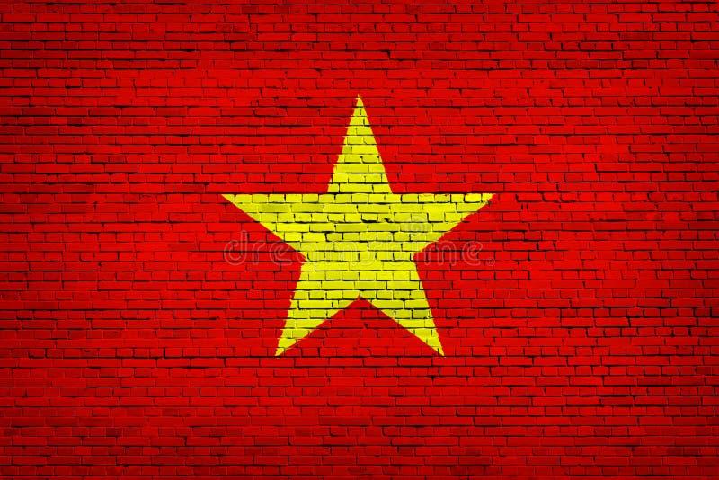 Staatsflagge von Vietnam auf einem Ziegelstein vektor abbildung