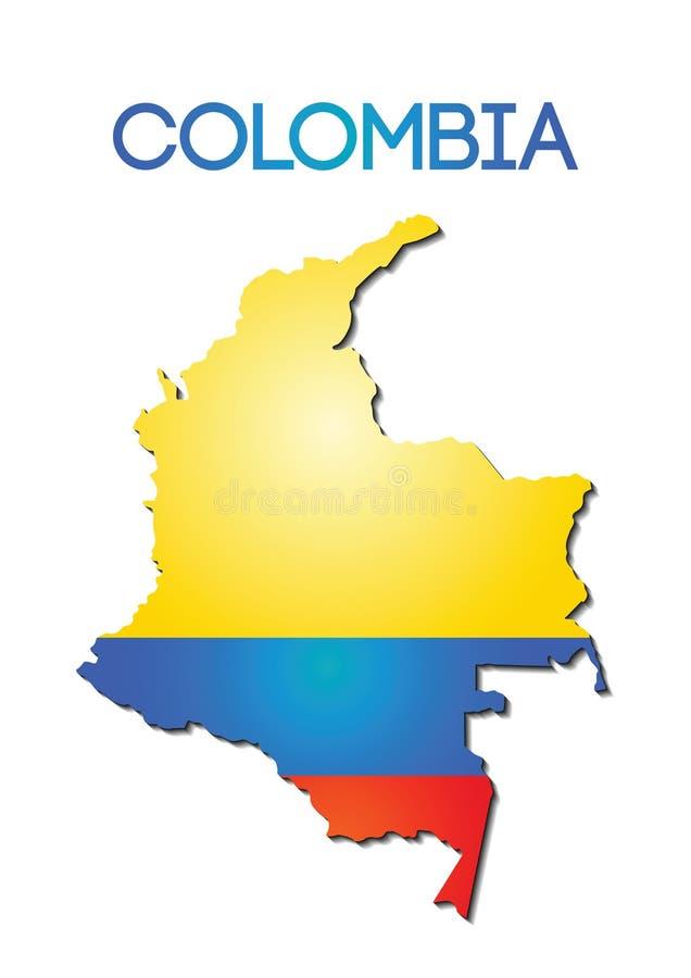 Staatsflaggefarbe von Kolumbien im Kartensteigungsdesign lizenzfreie abbildung