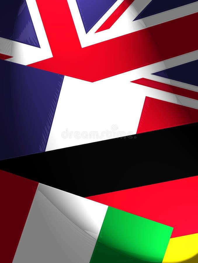 Staatsflaggen lizenzfreie abbildung