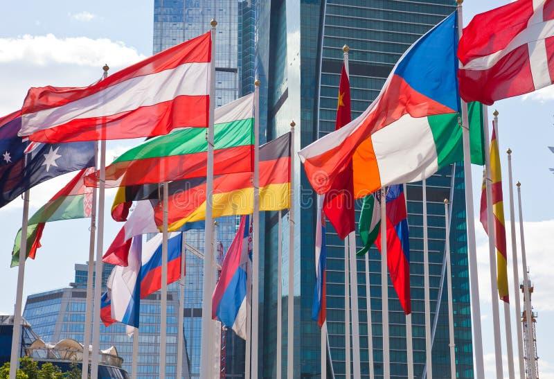 Staatsflaggen Des Unterschiedlichen Landes Lizenzfreie Stockbilder