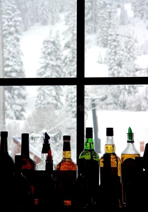 Stab am Skiort lizenzfreie stockfotos