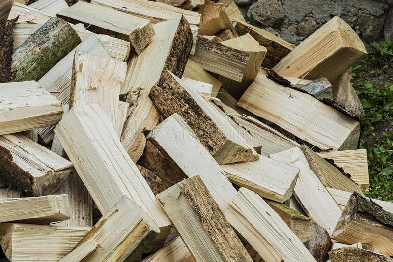 A big pile of stab wood dumped in a pile. Stab wood, dumped on each other in a big pile royalty free stock photo