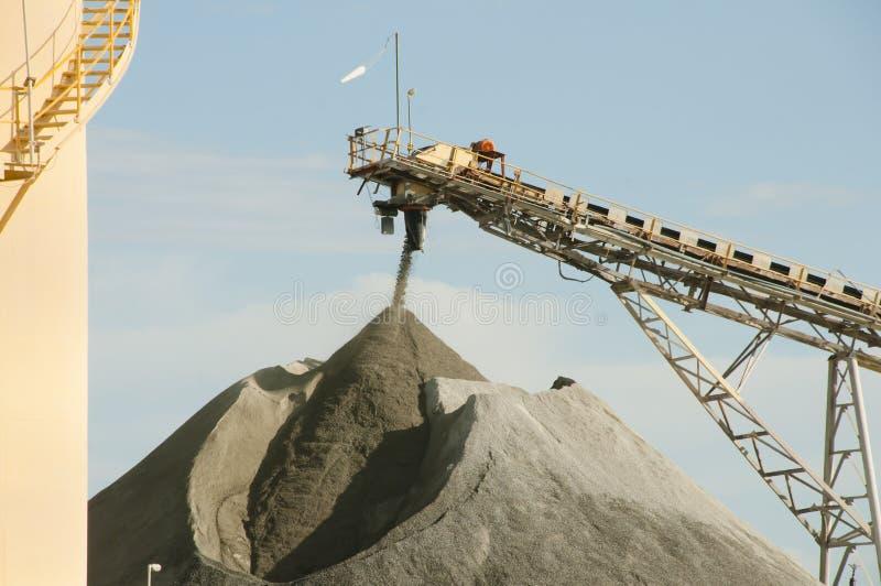 Stabilimento di fabbricazione di estrazione mineraria fotografia stock libera da diritti