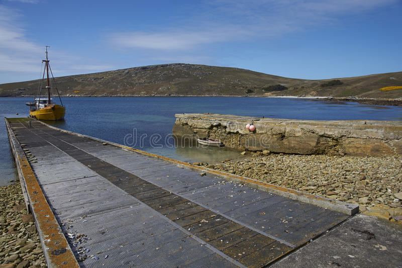 Stabilimento di West Point in Falkland Islands fotografie stock