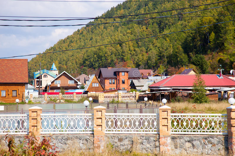 Stabilimento il lago Baikal, Russia di Listvyanka fotografie stock libere da diritti