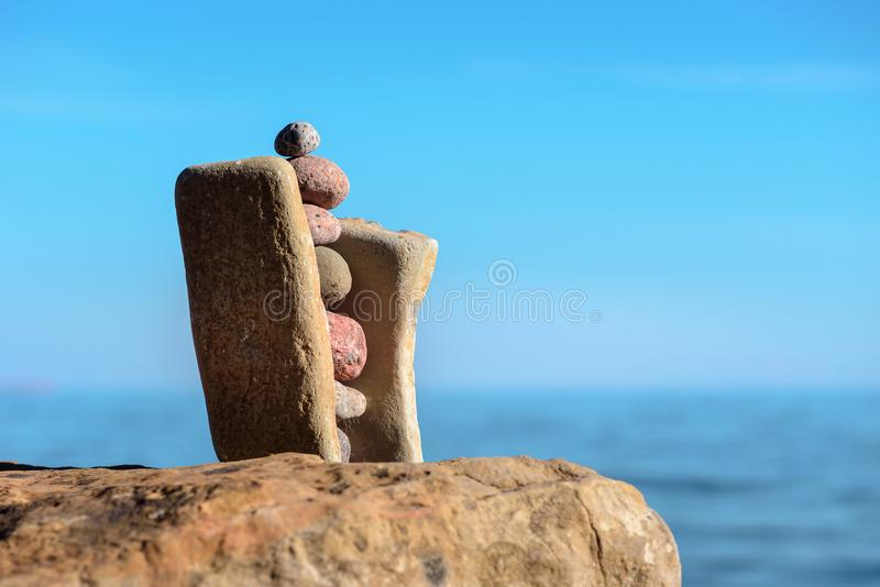 Stabilità delle pietre fotografia stock